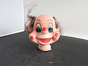 Vintage Clown Doll Head With Rooted Hair Crafting