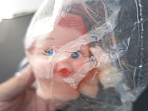 Vintage Boy Doll Head Rubber Doll Crafting With Arms