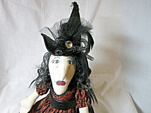 Hand Crafted Cloth Witch Doll 27 Inch
