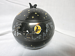 Lindt Chocolate Halloween Tin Container Ball Ornament