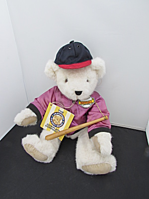Vermont Teddy Bear Company Baseball Player 1992 Tags