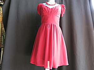 Womens Vintage Light In The Box Red Dress Size 6 Casual