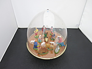 Ohio Art Musical Wind Up Nativity Rotating Show Dome
