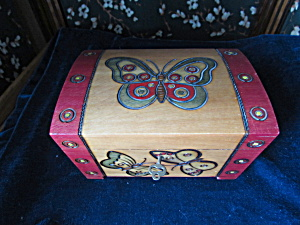 Jewelry Box Made In Poland With Key Butterfly