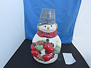 Snowman Cookie Jar By Jan Karan For Hallmark