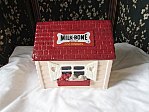 Milk Bone Dog Treats House Cookie Jar Roman
