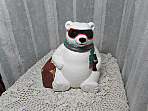 Coca Cola Hollywood Polar Bear Cookie Jar