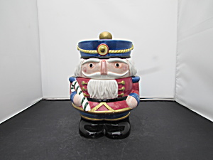 Fitz And Floyd Nutcracker Cookie Jar 1992 8 Inch