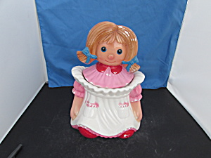 Pretty Ann Metlox Cookie Jar Some Call Her Raggedy Ann