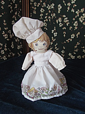 Cloth Doll Girl Chef Lovely Facial Features And Dress T