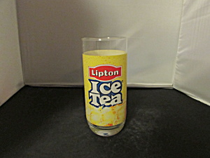 Lipton Ice Tea Glass Tumbler Glass Great Advertising