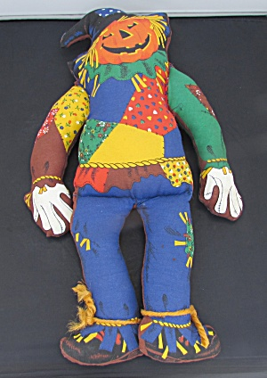 Vintage Cloth Scarecrow Handmade Doll Kit 19 Inch