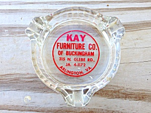 Kay Furniture Arlington Va Glass Ashtray