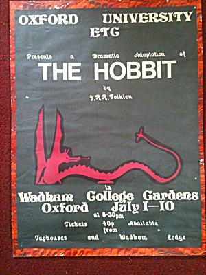 Tolkien Hobbit Poster Oxford University