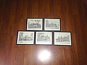 5 Prints U.s. Presidents Homes Scott Kiefer