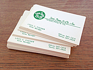 Business Cards Farm Dairy Co-op West Virginia