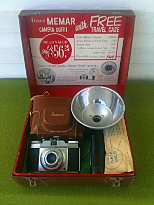 Unused Ansco Memar Camera Outfit W/case