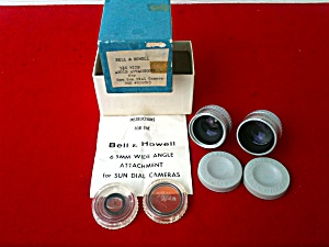 Bell & Howell Wide Angle Lenses 8mm Sun Dial