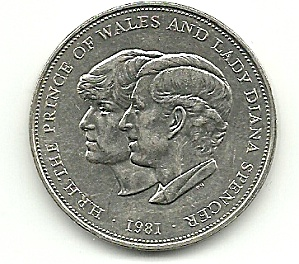 1981 Prince Charles & Lady Diana Wedding Coin