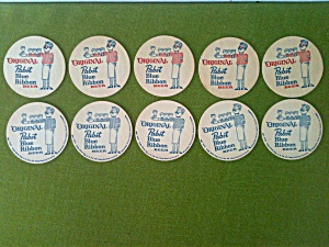 Old Pabst Blue Ribbon Coasters
