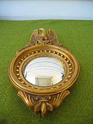 Imperial Candlewick Gold Eagle Mirror