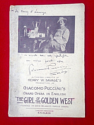 Theatre Booklet Girl Of The Golden West