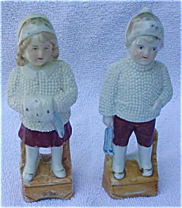 German Boy & Girl Ceramic China Figurines