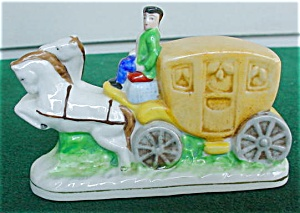 Occupied Japan Stagecoach Figure