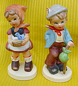 Pr. Of Hummel-like Figurines Boy/girl