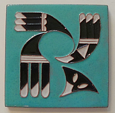 Dhc Desert House Crafts - Symbolic Eagle Tile