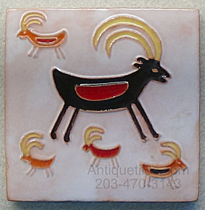 Dhc Desert House Crafts - Symbolic Goat Tile
