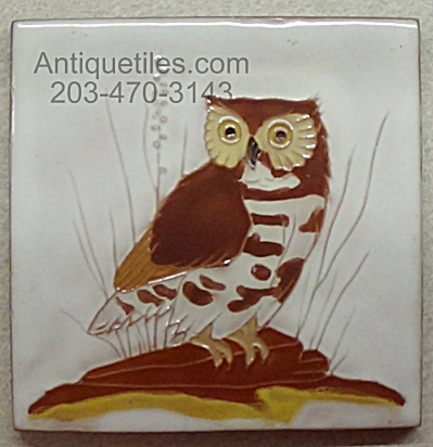 Gaskins Gila Arts - Burrowing Owl - Tile