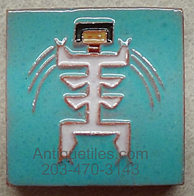 3 Inch Square Symbolic Native American Dancer