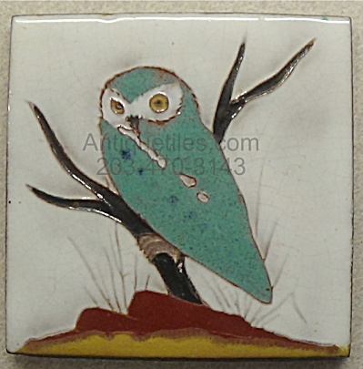 Gaskins Gila Arts Tile - Burrowing Owl On Low Branch