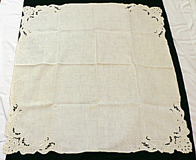 Linen Bridge Cloth & Matching Napkins