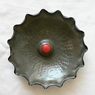 Nekrassoff Pewter Dish With Bakelite Button