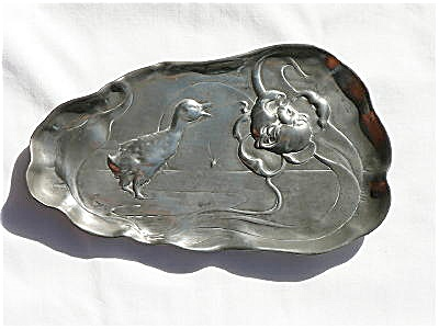 Kayserzinn Pewter Dish With A Duck Design