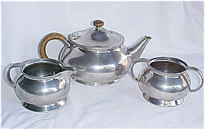 Tudric Liberty Pewter Tea Set