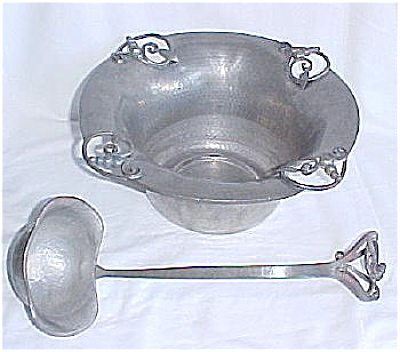 Nekrassoff Punch Bowl, Underplate And Ladle