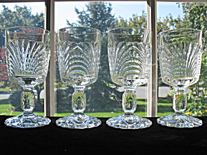 Cambridge Glass Caprice Pressed Water Goblets - 4