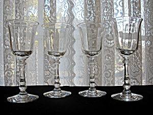 Heisey Tyrolean Wine Goblets - Set Of 4