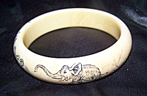 Scrimshaw Genuine Antique Pre-ban African Ivory From Elephant Tusk