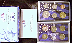 United States Mint Silver Proof Set 2005