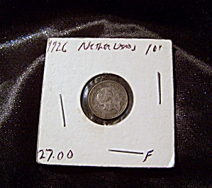 Netherlands 10 Cent Coin 1926 F