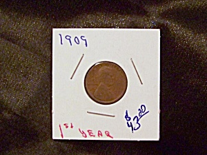 "Lincoln Penny 1909 ""1st. Year"""
