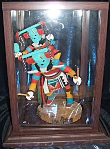 Kachina Doll Figure With Doll Riding Piggyback