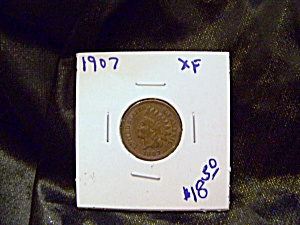 Indian Cent 1907 Xf