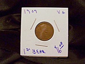 "Lincoln Cent 1909 Vg "" St Year"""