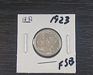 1923 Mercury Dime With Full Split Band, Gem Quality. Rare.