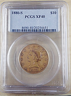 1880-s $10 Gold Eagle. Pcgs Xf40.